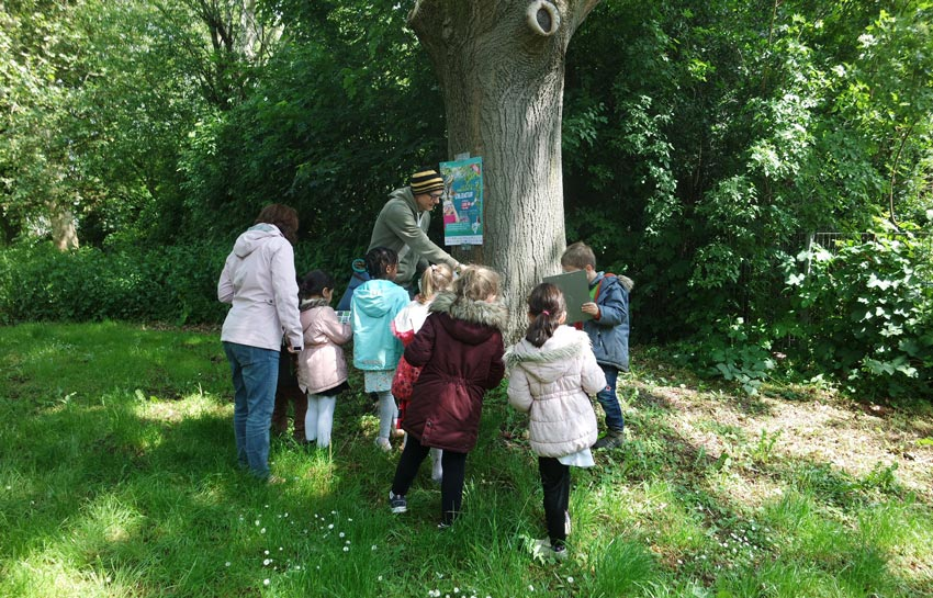 Kindergruppe in der Natur